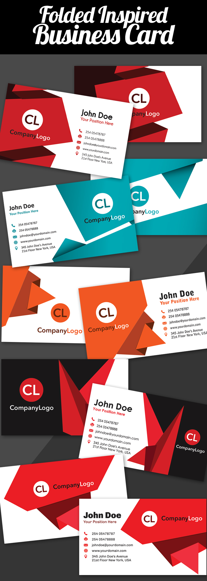 Folded Inspired Business Card