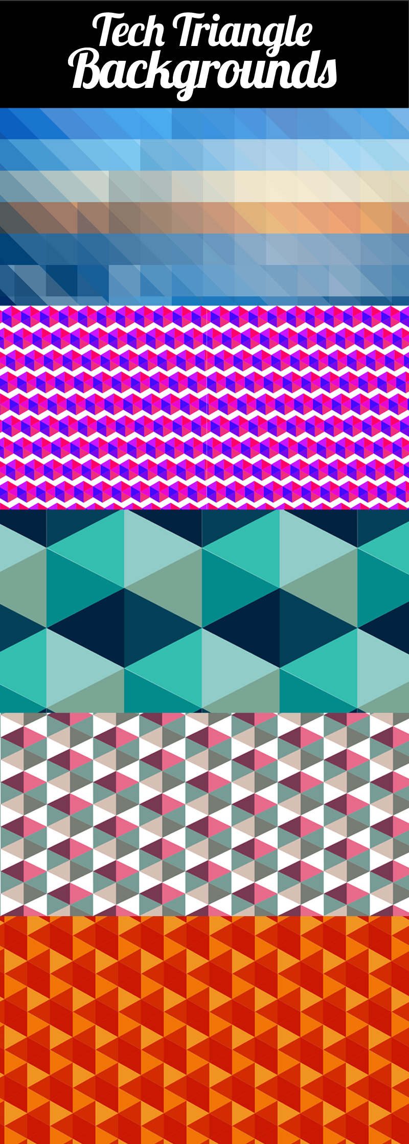 Tech Triangles Backgrounds