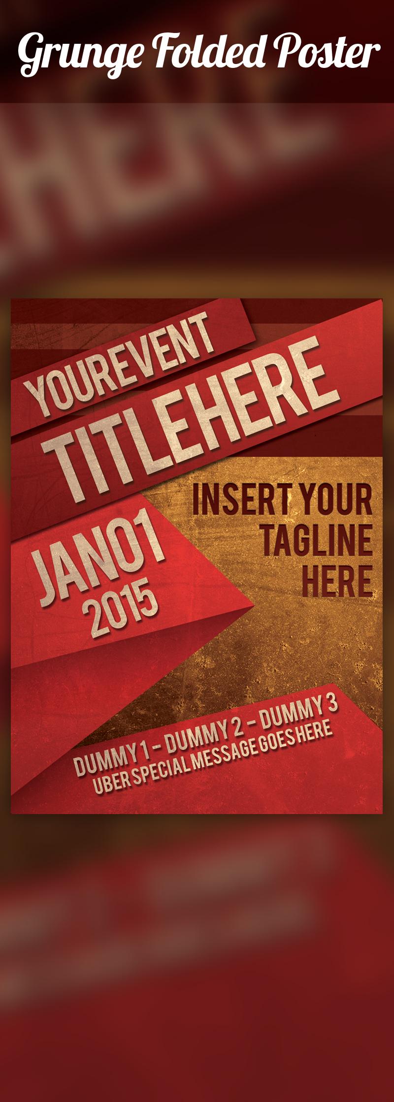 Grunge Folded Poster