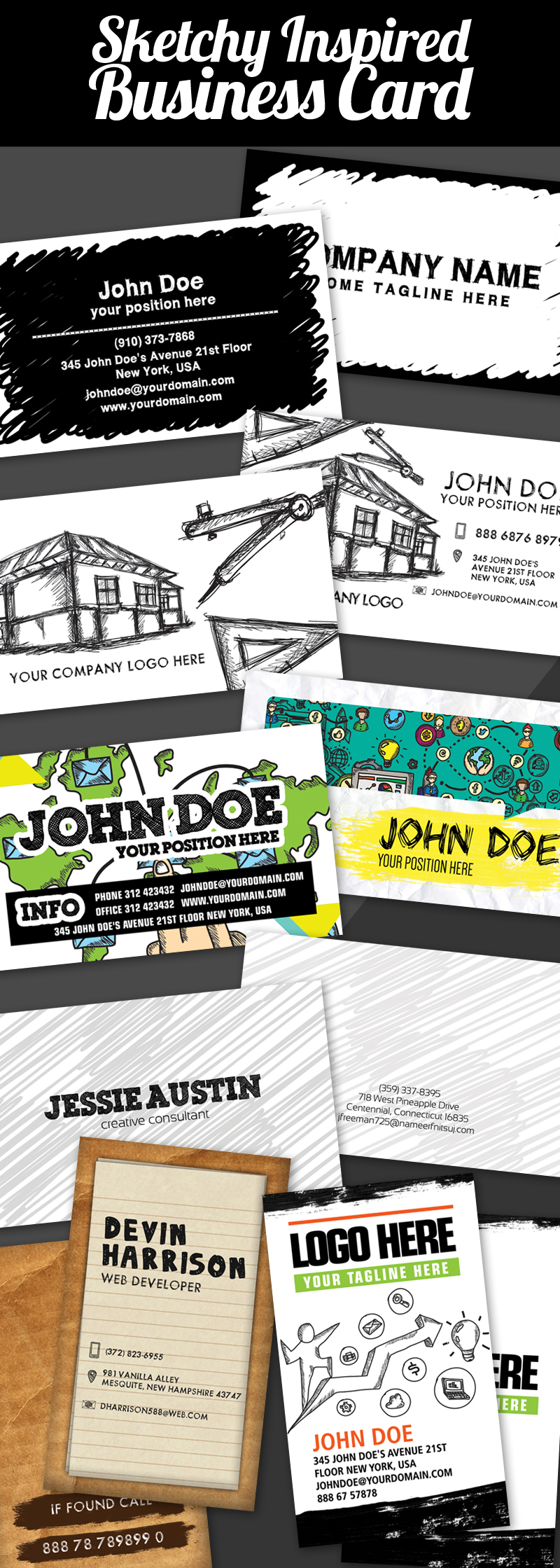 Sketchy Inspired Business Card