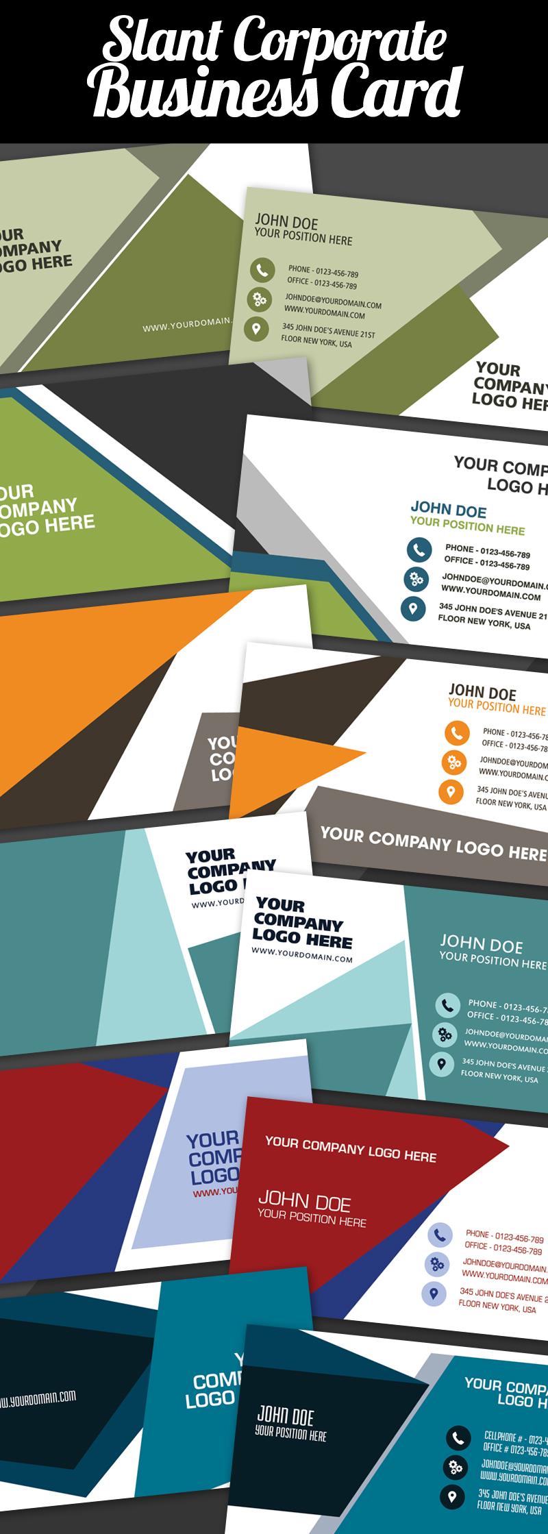 Slant Corporate Business Card