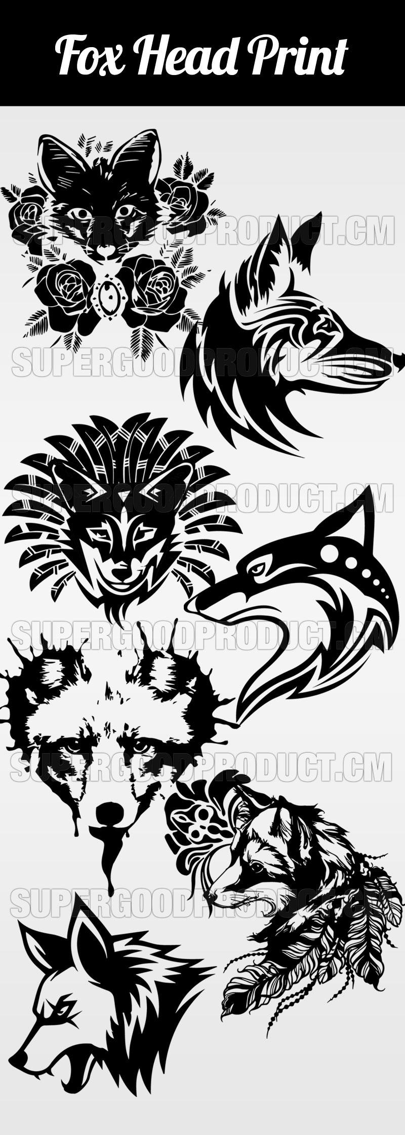 Fox-Head-Print