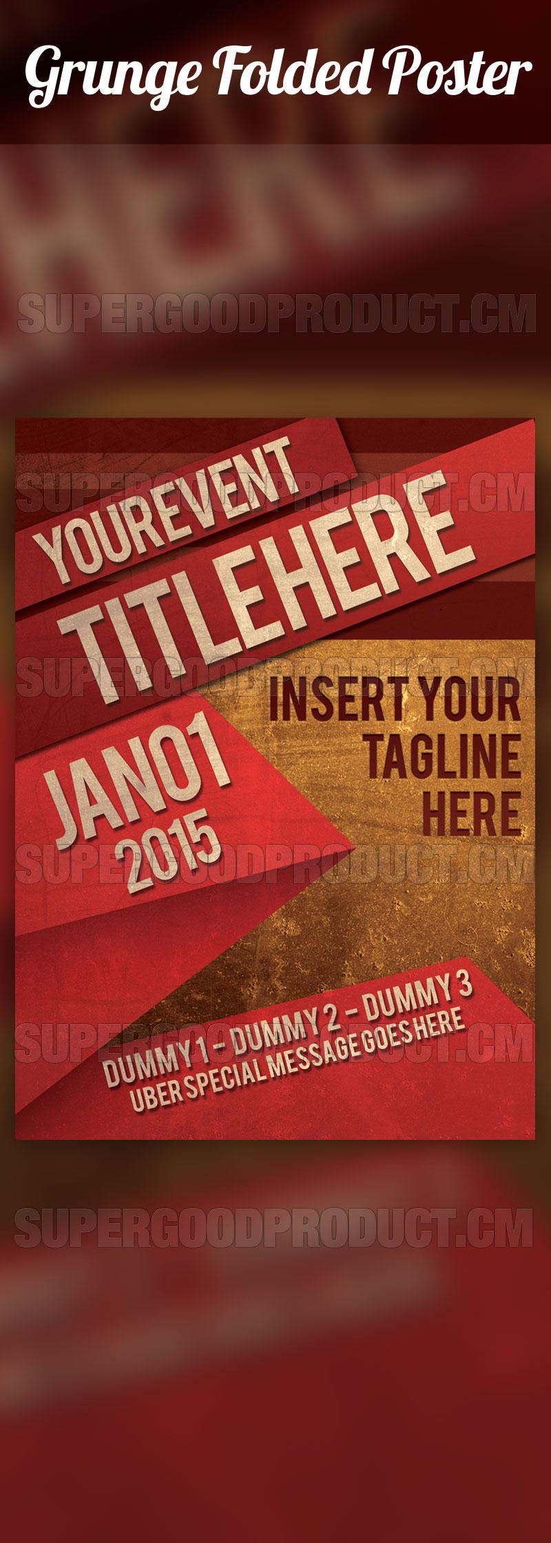 Grunge-Folded-Poster