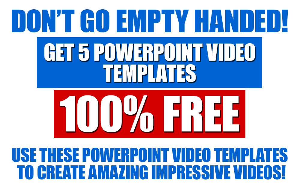 Free 5 powerpoint video templates giveaway supergoodproduct fill your name and email below and we will send you the download link to the 5 premium powerpoint video templates 100 free toneelgroepblik Choice Image
