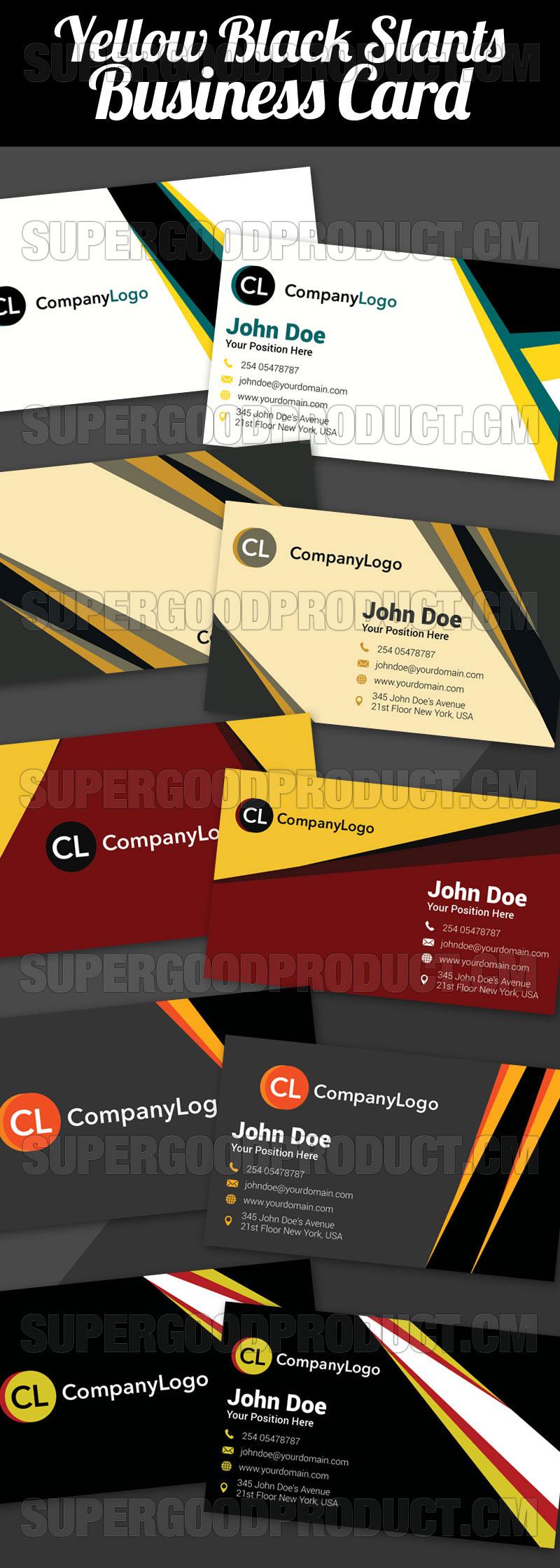 Yellow-Black-Slants-Business-Cards